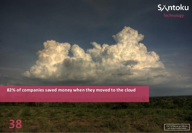 Technology  82% of companies saved money when they moved to the cloud CSC  38  Find out how we can help you with digital t...