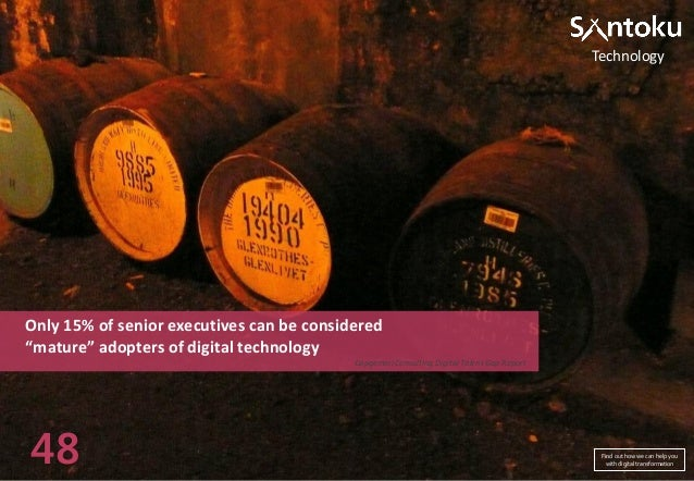 """Technology  Only 15% of senior executives can be considered """"mature"""" adopters of digital technology Capgemini Consulting D..."""
