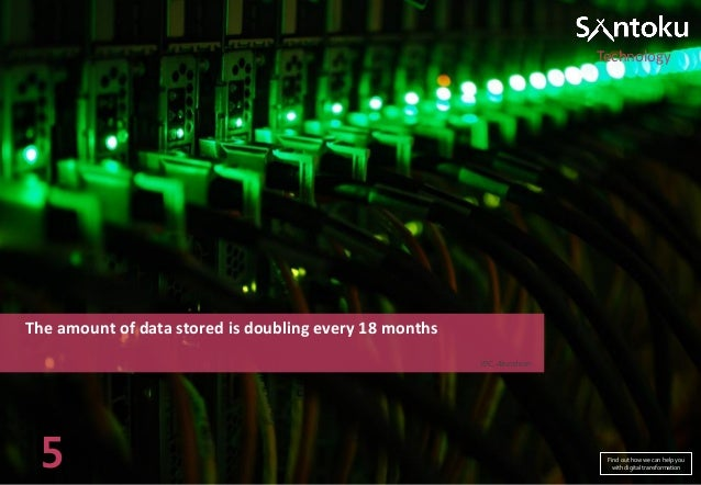 Technology  The amount of data stored is doubling every 18 months IDC, Aberdeen  5  Find out how we can help you with digi...