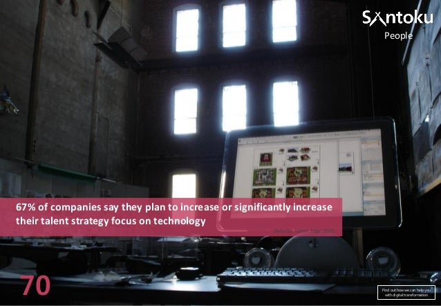 People  67% of companies say they plan to increase or significantly increase their talent strategy focus on technology Del...