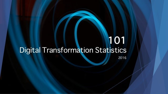 101 Digital Transformation Statistics 2016