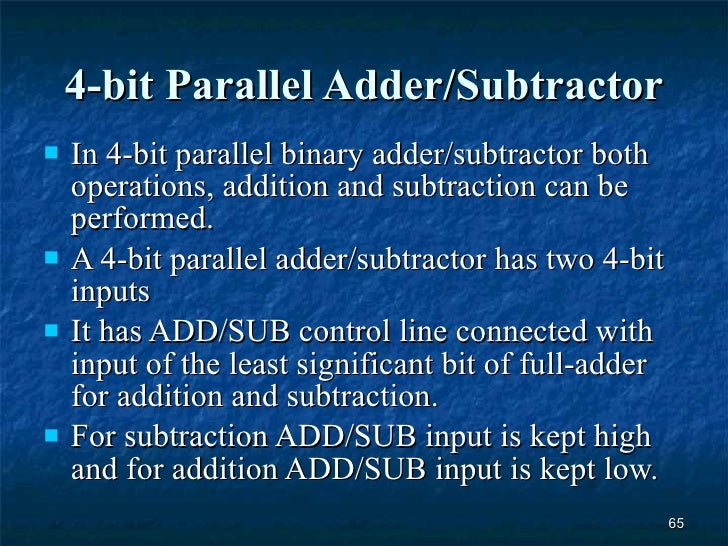 4 bit parallel adder theory
