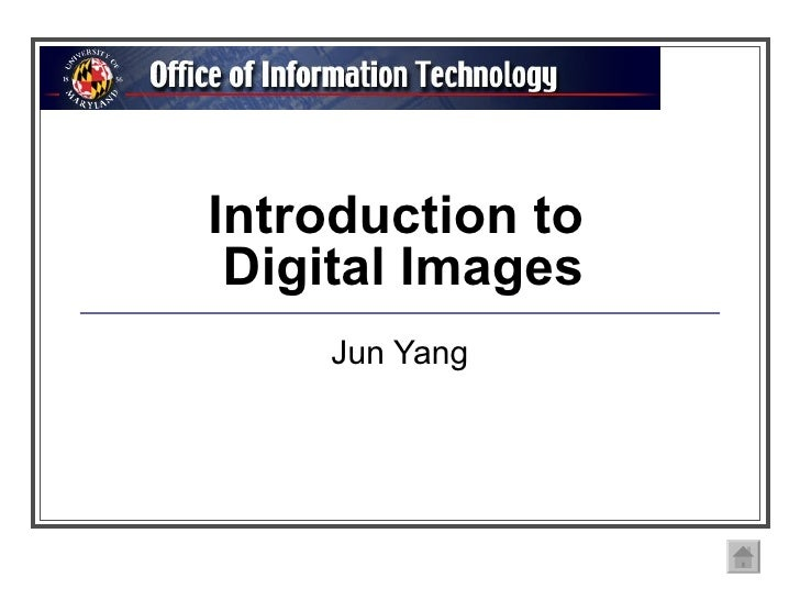 Introduction to  Digital Images Jun Yang
