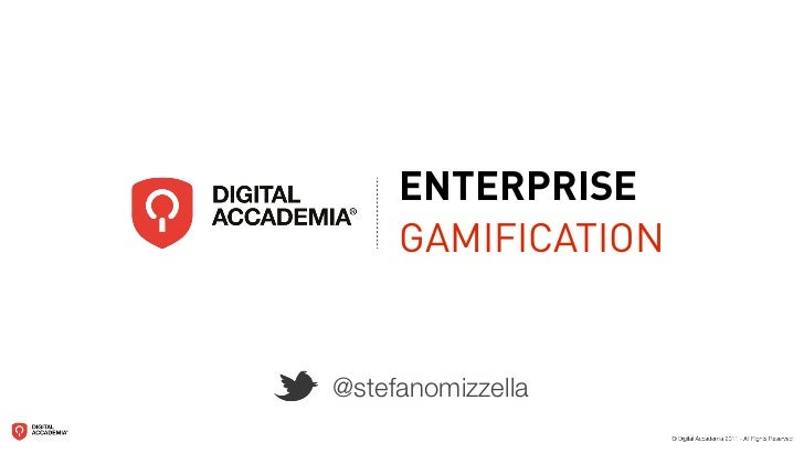 ENTERPRISE     GAMIFICATION@stefanomizzella