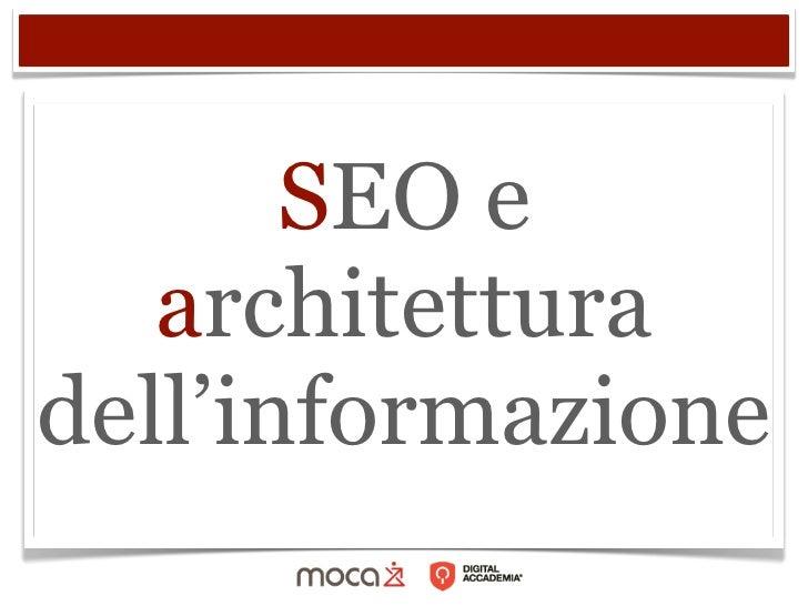 SEO e   architetturadell'informazione