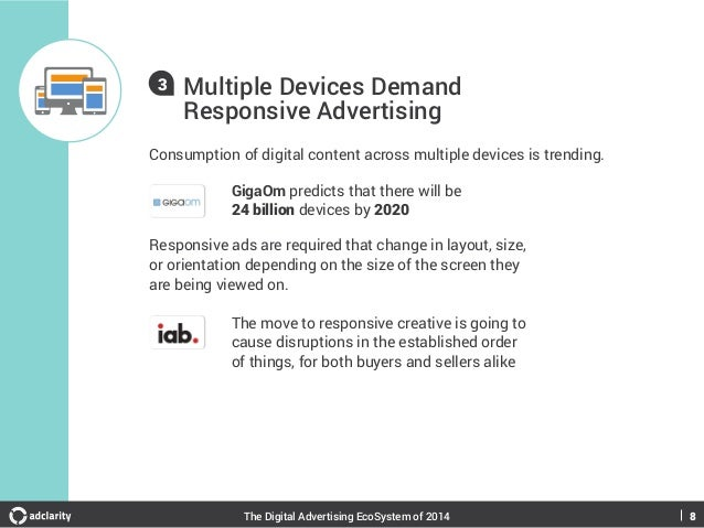 3  Multiple Devices Demand Responsive Advertising  Consumption of digital content across multiple devices is trending. Gig...