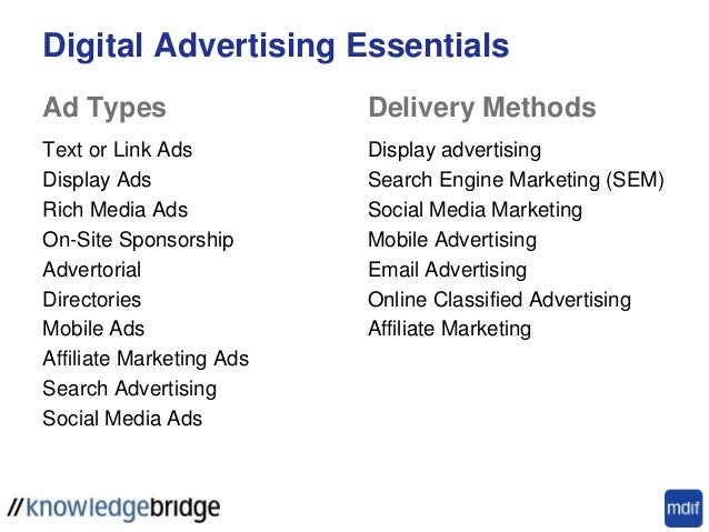 Digital Advertising Display Search Video Mobile