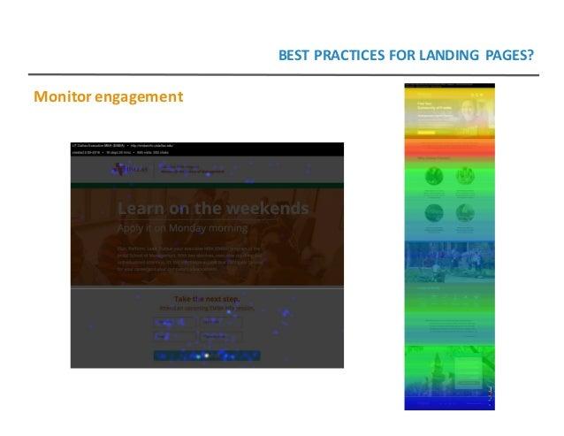 Monitorengagement BESTPRACTICESFORLANDING PAGES?