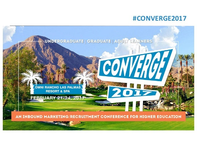 #CONVERGE2017 UpcomingWebinar • Text