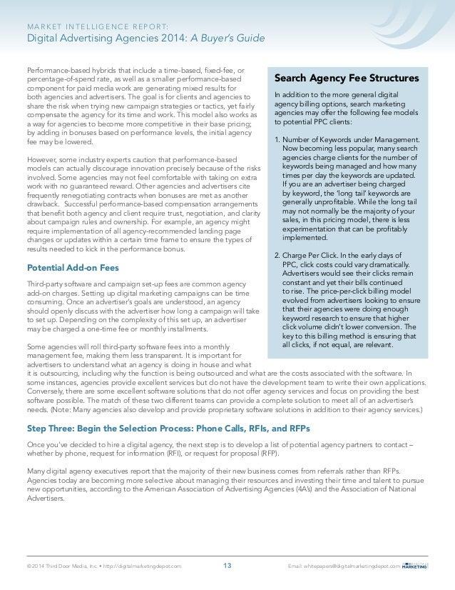 Digital advertising agencies 2014 a buyer s guide