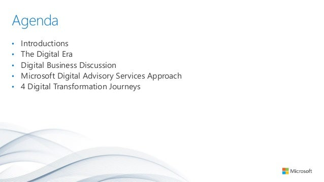 Microsoft Digital Advisory Services Slide 2
