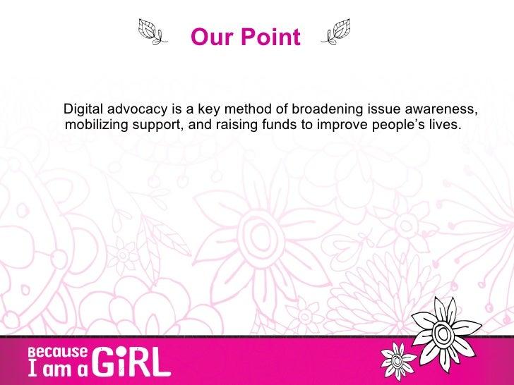 Digital advocacy mobilizing the girl effect Slide 3