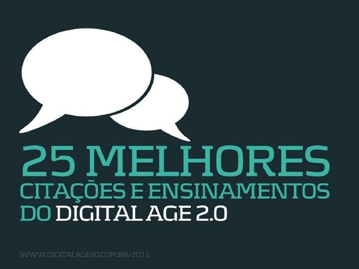 25 Melhores citações e pensamentos do Digital Age 2.0