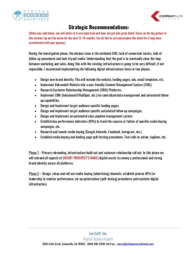 Digital Agency Coaching Free Digital Agency Proposal Template