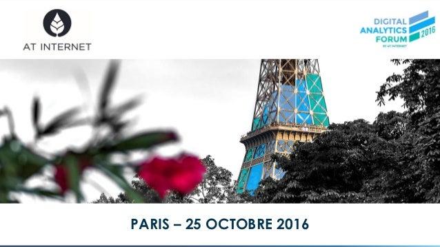 © AT Internet PARIS – 25 OCTOBRE 2016