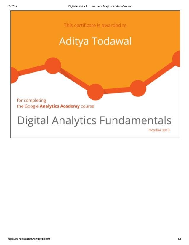 10/27/13  https://analyticsacademy.withgoogle.com  Digital Analytics Fundamentals - Analytics Academy Courses  1/1