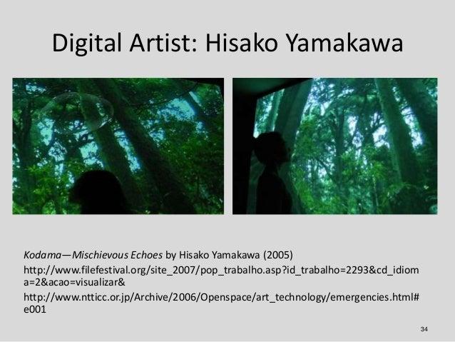 Digital Artist: Hisako YamakawaKodama—Mischievous Echoes by Hisako Yamakawa (2005)http://www.filefestival.org/site_2007/po...