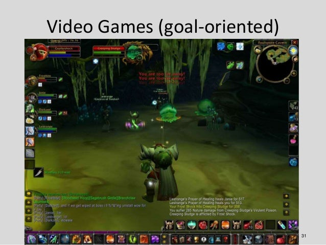 Video Games (goal-oriented)                              31