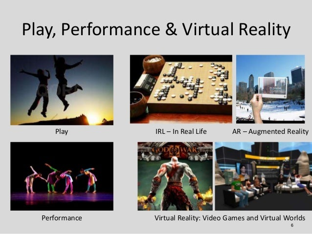 Play, Performance & Virtual Reality     Play        IRL – In Real Life      AR – Augmented Reality  Performance    Virtual...