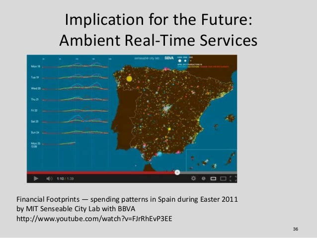 Implication for the Future:             Ambient Real-Time ServicesFinancial Footprints — spending patterns in Spain during...