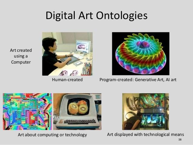 Digital Art OntologiesArt created  using aComputer                   Human-created       Program-created: Generative Art, ...
