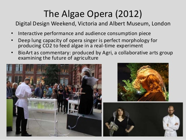 The Algae Opera (2012) Digital Design Weekend, Victoria and Albert Museum, London• Interactive performance and audience co...