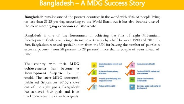 Bangladesh – A MDG Success Story ...