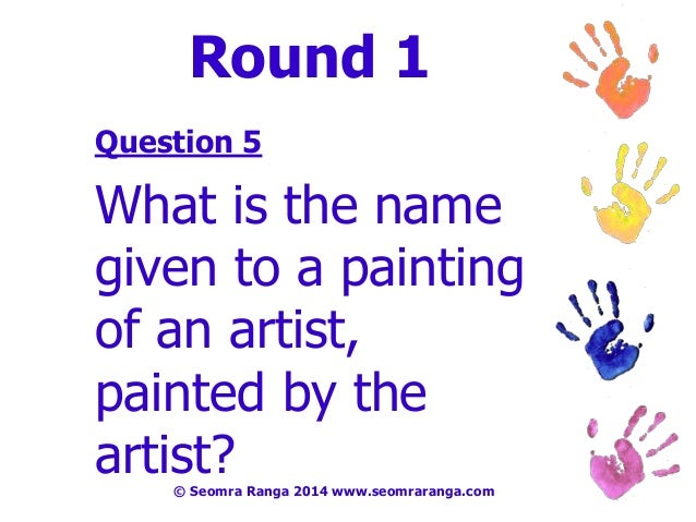 Art Quiz : Digital art week table quiz