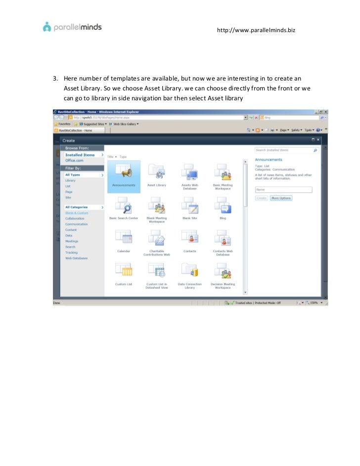 Digital asset management sharepoint 2010