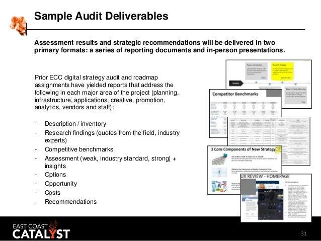 Digital marketing audit template 2016 for Marketing deliverables template