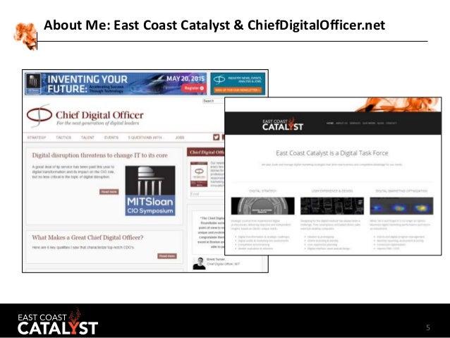 5 About Me: East Coast Catalyst & ChiefDigitalOfficer.net