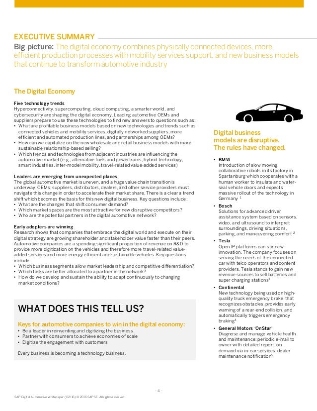 Value Creation In The Digital Automotive Network
