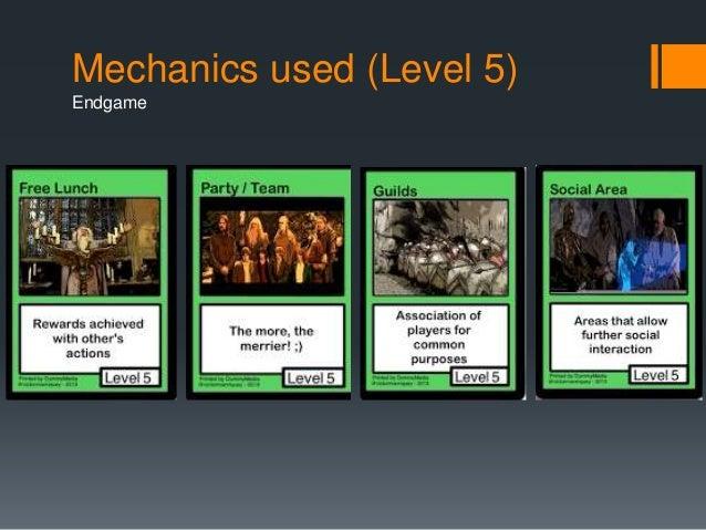 Mechanics used (Level 5)  Endgame