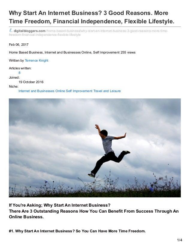 Digitalbloggers.com. Why start an internet business? 3 good reasons! …