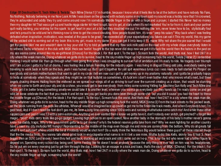 Machine Gun Kelly - Lace Up: Digital Booklet