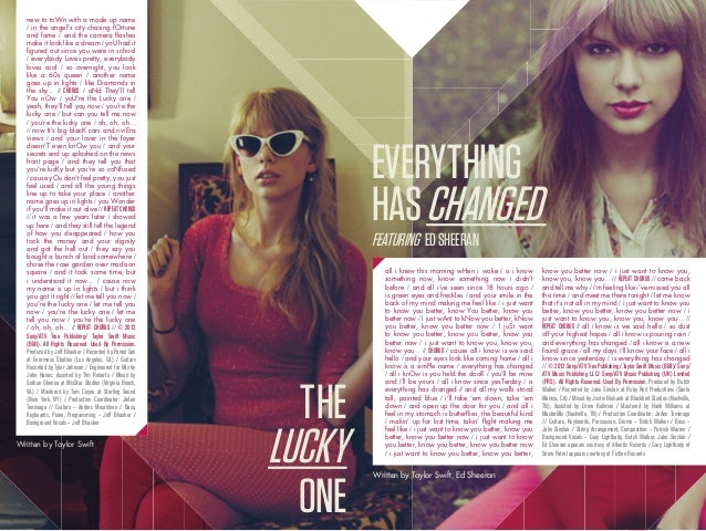 Taylor Swift Red Deluxe Digital Booklet