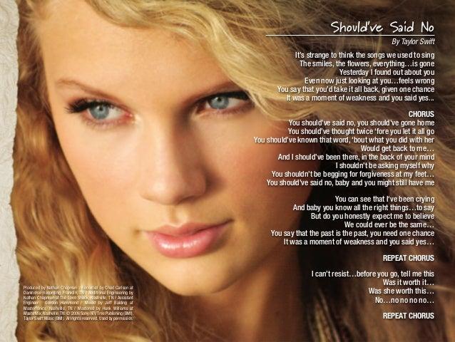 Taylor Swift Karaoke Digital Booklet