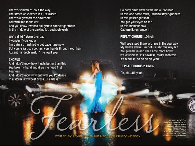 Taylor Swift - Fearless (Karaoke) Digital Booklet