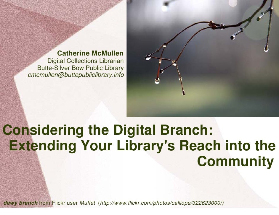 Catherine McMullen               Digital Collections Librarian            Butte-Silver Bow Public Library          cmcmull...