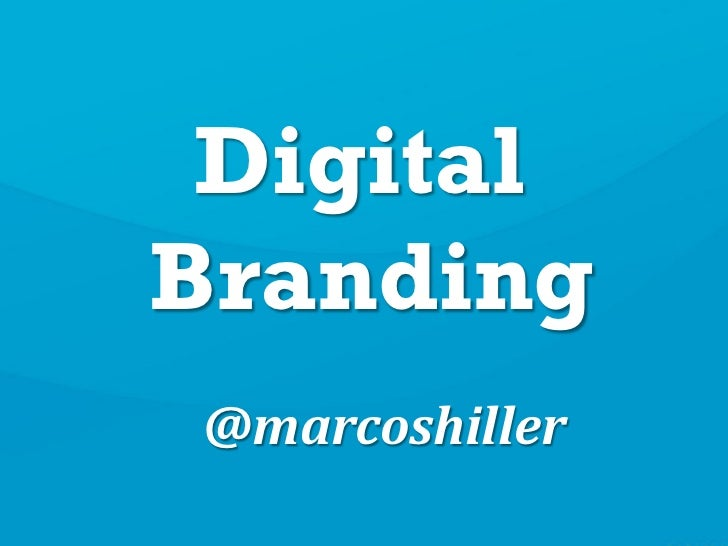 DigitalBranding@marcoshiller