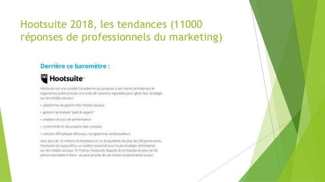 Hootsuite 2018, les tendances (11000 réponses de professionnels du marketing)