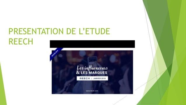 PRESENTATION DE L'ETUDE REECH