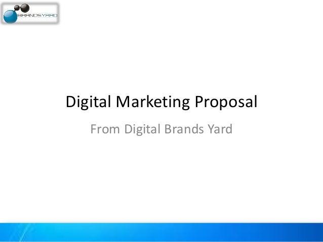 Digital Marketing Proposal From Digital Brands Yard