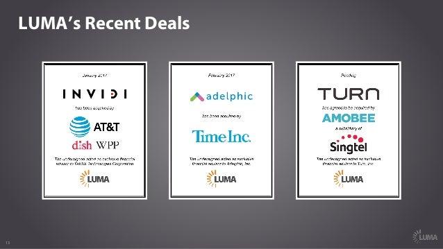 13 LUMA's Recent Deals