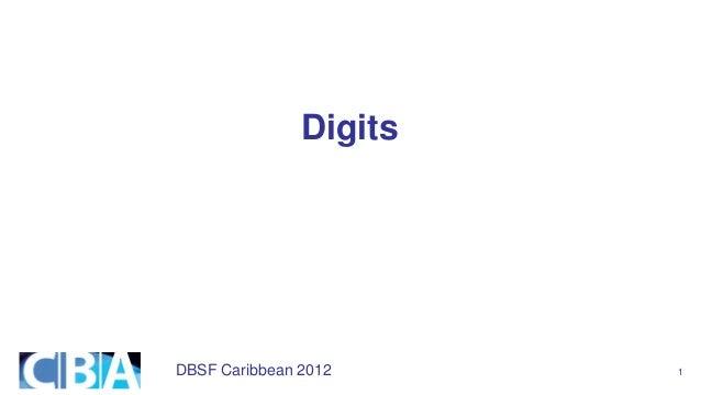 DBSF Caribbean 2012 1 Digits