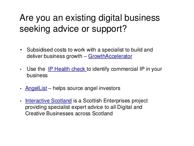Are you an existing digital business seeking advice or support? • Subsidised costs to work with a specialist to build and ...