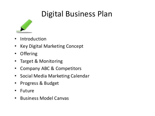 Sample Digital Marketing Plan Templates for Free Download