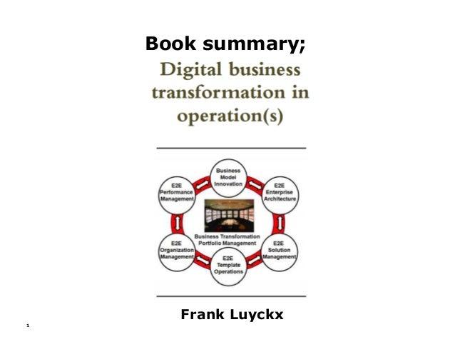 Book summary; 1 Frank Luyckx