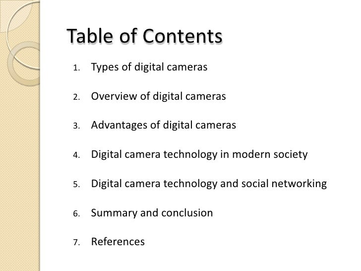 digital camera technology
