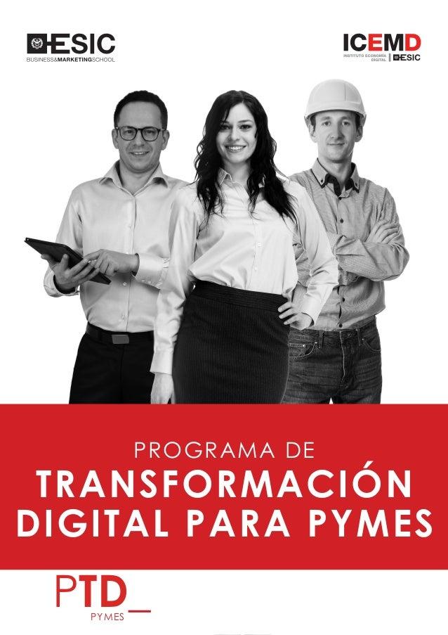 1 PROGRAMA DE TRANSFORMACIÓN DIGITAL PARA PYMES PTD_PYMES